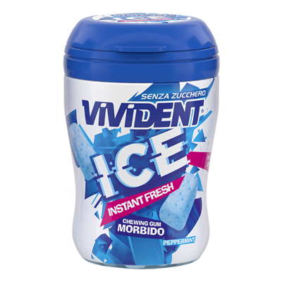 Vivident Ice barattolo gusto peppermint